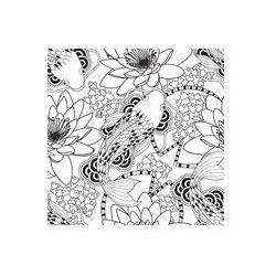 Foto naklejka samoprzylepna 100 x 100 cm - Chiński karpie szwu