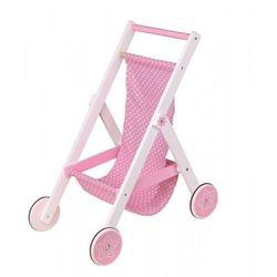 Wózek spacerowy dla lalek drewniany