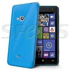 CELLY Nokia Lumia 625 silikonowe etui - niebieskie GELSKIN356LB