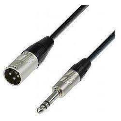 Adam Hall Cables 4 Star Series - Microphone Cable REAN XLR męski / 6.3 mm Jack stereo 1.5 m przewód mikrofonowy