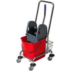 Wózek SOLO jednowiaderkowy 23 litry czerwony