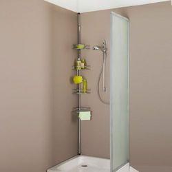 Regał narożny teleskopowy, na wannę lub do kabiny prysznicowej