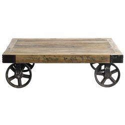 Stolik drewniany na kółkach