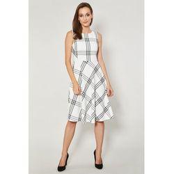 50cff914b0 suknie sukienki sukienka kratke (od Kremowa sukienka w kratkę Danae ...