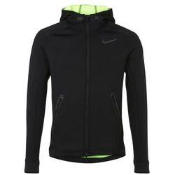 Nike Performance TECH THERMA SPHERE Bluza rozpinana black/volt