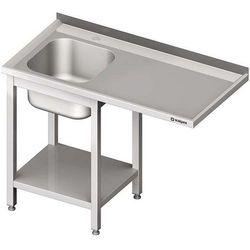 Stół ze zlewem jednokomorowym i miejscem na urządzenie STALGAST 1500x600x900 lewy