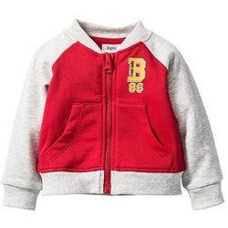 Bluza rozpinana niemowlęca, bawełna organiczna bonprix czerwono-naturalny melanż