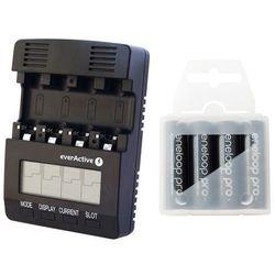 ładowarka everActive NC-3000 + 4 akumulatory Panasonic ENELOOP PRO R6/AA 2550 mAh