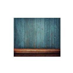 Foto naklejka samoprzylepna 100 x 100 cm - Drewniany stół na tle ściany z desek