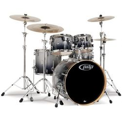 PDP by DW Shell set Concept Maple, Silver to Black Sparkle