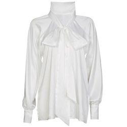 Bluzka biała z wiązaniem