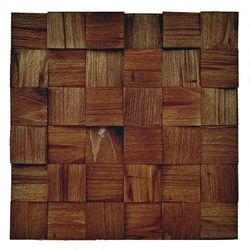 Panele drewniane Buk rustikal Łupany kostka 3D *025 - Natural Wood Panel