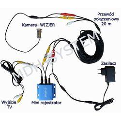 Miniaturowy zestaw do dyskretnego monitoringu klatki schodowej, kamera wizjer, judasz, rejestrator, DETEKCJA RUCHU, NADPISYWANIE