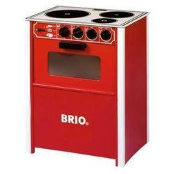 BRIO Drewniana kuchenka dziecięca, kolor czerwony