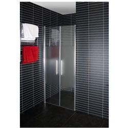DUSCHY DuoDoor Drzwi prysznicowe wahadłowe 80x190, szkło transparentne + satynowe 5263-80