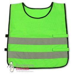 Kamizelka odblaskowa dla dzieci 3 - 6 lat, 42x45cm - zielona