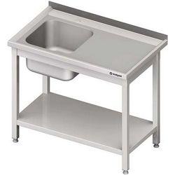 Stół ze zlewem jednokomorowym z półką STALGAST 700x600x850 lewy