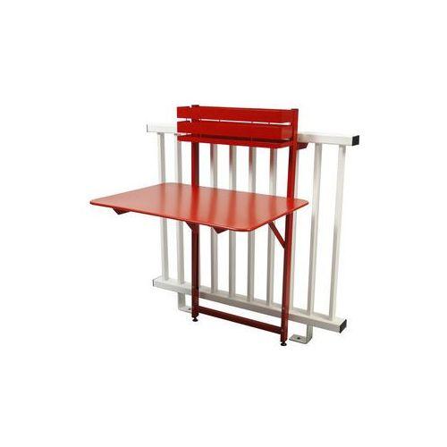 Składany stolik balkonowy Bistro Fermob czerwony