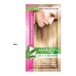 Marion Aloes & Keratyna 4-8 myć (W) szampon koloryzujący w saszetce 51 Jasny Perłowy Blond 40ml