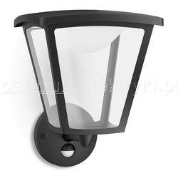 PHILIPS COTTAGE LAMPA OGRODOWA ŚCIENNA Z CZUJNIKIEM RUCHU CZARNA LED 1X4.5W 230V