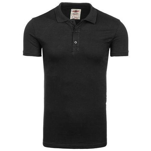 9da56354a Koszulka polo męska czarna Denley 171221 - porównaj zanim kupisz