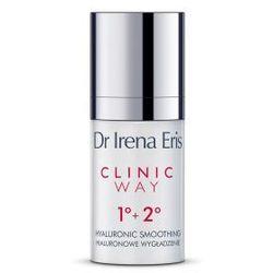 Dr Irena Eris CLINIC WAY 1+2 Hialuronowe Wygładzenie Dermokrem przeciwzmarszczkowy pod oczy na dzień i na noc 15 ml