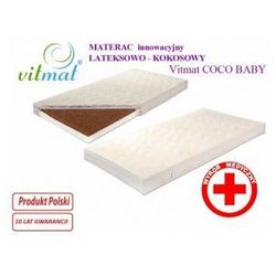 Materac innowacyjny lateksowo - kokosowy Vitmat COCO Baby 130x70 Antyalergic