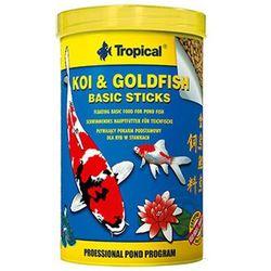 TROPICAL Koi & GoldFish Basic Sticks - pokarm w pałeczkach dla ryb stawowych puszka 1l/85g