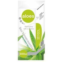 Aloes Sok z aloesu 99,8% bez konserwantów - - 1000 ml (but.szkl.)