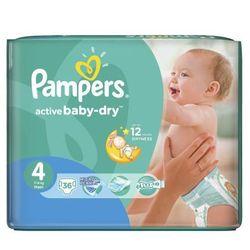 Pampers, Active Baby, Pieluszki jednorazowe, Maxi, MidPack, 36 szt.