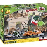 Cobi, Small Army, Zestaw klocków, Powstanie Warszawskie - Barykada, 140 elementów Darmowa dostawa do sklepów SMYK
