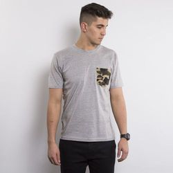 Carhartt koszulka t-shirt Contrast Pocket grey heather / camo duck - grey heather / camo duck