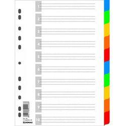 Przekładki Donau A4 10 kartek kolorowe