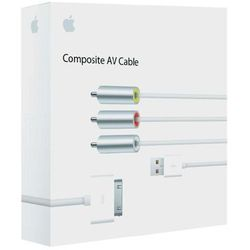 Kabel AV do Apple iPod/iPhone, Apple, wtyk Apple Dock / wtyk RCA, wtyk USB 2.0, 1,5 m