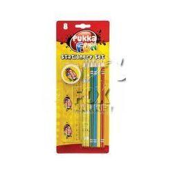 Zestaw szkolny PUKKA kredki ołówki linijka gumka