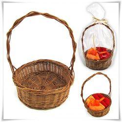 Koszyczek prezentowy z wikliny brązowy