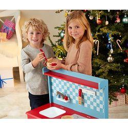 Drewniana kuchnia zabawkowa