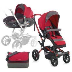 JANE Wózek sportowy Crosswalk + fotelik samochodowy Matrix Light 2 Scarlet