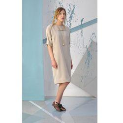 PASOI - beżowa sukienka Przecenione z 990.00 PLN
