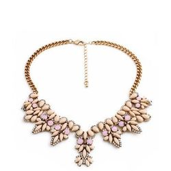 Naszyjnik z różowych kamieni - Alice Jo