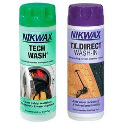 Zestaw Nikwax Tech Wash 300ml + TX. Direct Wash-In 300ml Impregnat + Środek Czyszczący Do Odzieży Przeciwdeszczowej