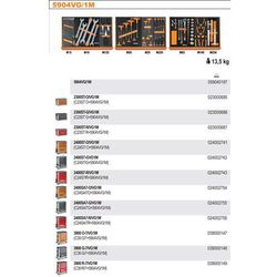 WÓZEK NARZĘDZIOWY 2400/C24SA7 Z ZESTAWEM NARZĘDZI, 76 ELEMENTÓW, MODEL 2400SA7-R/VG1M, CZERWONY