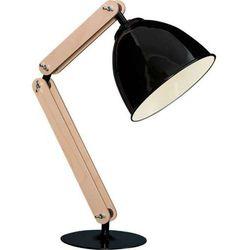 Stojąca LAMPKA biurkowa KOBE I 20606 Sigma drewniana LAMPA stołowa regulowana kopuła drewno czarny