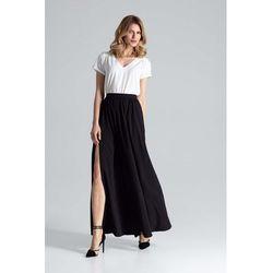6dcba2a70995ce IDA GREEN długa spódnica plus size na lato. Więcej informacji · Czarna Długa  Marszczona Spódnica w Liście
