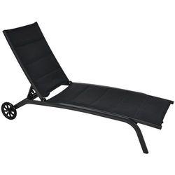 Leżak ogrodowy HOME&GARDEN Ibiza Czarny