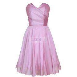 Wieczorowa sukienka z szyfonu, mon 210B, wersja przed kolano