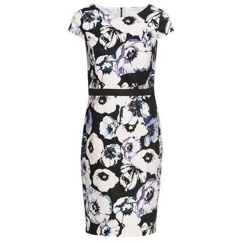 314f717094 Sukienka bonprix niebiesko-biały w kwiaty - porównaj zanim kupisz