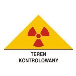 Znak ostrzegawczy do oznakowania terenu kontrolowanego