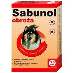 Sabunol czerwona obroża przeciw pchłom i kleszczom dla psa 75 cm - czerwona - 75 cm