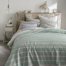 Narzuta na łóżko w paski, 100% bawełny tkanej z przędzy farbowanej, Pégalie